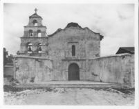 Missions, San Diego de Alcala, main facade after restoration, 1931