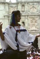 Awarding of prizes[?], woman dancing, 1985