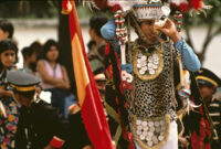 Saints Day, man in costume drinking a beer, 1982