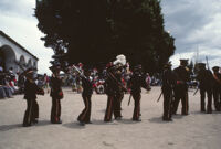 Saints Day, boys wearing soldier costumes, 1982