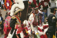 Saints Day, various performers in costume, 1982