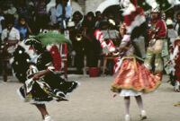 Saints Day, girls dancing, 1982