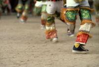 Saints Day, legs of men running, 1982