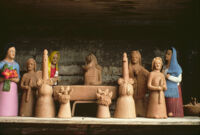 Ocotlan, clay figurines, 1982