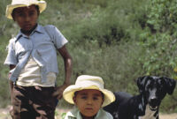 Oaxaca, boys and dog, 1982 or 1985