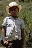 Oaxaca, boy wearing cowboy hat, 1982 or 1985