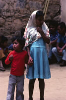 Oaxaca, children holding hands, 1982 or 1985