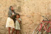 Oaxaca, women and bicycles, 1982 or 1985