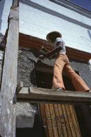 Oaxaca, construction workers, 1982 or 1985