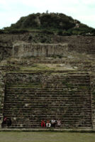 Monte Albán Site, steps on temple mound[?], 1982 or 1985