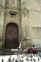 Oaxaca, Santo Domingo cathedral and musum, entrance,1982 or 1985