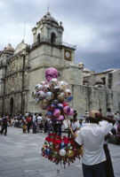 Oaxaca, balloon vendor, 1982 or 1985