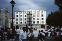 Oaxaca, white building and plaza, 1982 or 1985