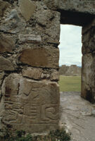 Monte Albán Site, carved glyph on wall/doorway, 1982 or 1985