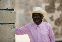 Oaxaca, old man in cowboy hat, 1982 or 1985
