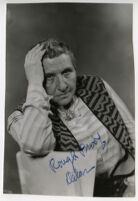 Gertrude Stein, portrait with hand on head, [Rough Proof Delar written on image]