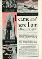 """I came and here I am"" article by Gertrude Stein, Hearst's International Cosmopolitan, 1935"