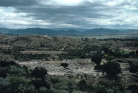 Monte Albán Site, landscape view, 1982 or 1985