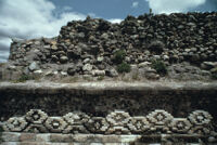 Monte Albán Site, stone walls with motiff, 1982 or 1985
