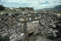 Monte Albán Site, stone wall close-up, 1982 or 1985