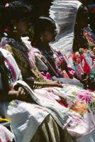 Guelaguetza[?], women dancers group 2, close-up, 1982 or 1985, [view 2]