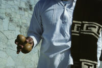 Guelaguetza[?], man holding gourd, 1982 or 1985