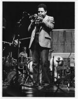 Bobby Bradford playing cornet [descriptive]