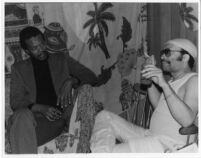 Horace Tapscott and Cecil Taylor backstage at the Lighthouse Cafe, Hermosa Beach [descriptive]
