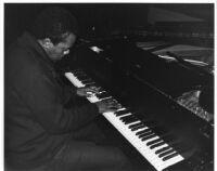 Horace Tapscott at the piano [descriptive]