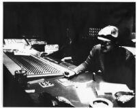 Horace Tapscott recording at United Western Recorders on Sunset Blvd. [descriptive]