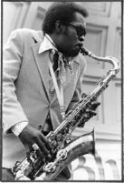 Dr. Wild Willie Moore playing saxophone, 1978 [descriptive]