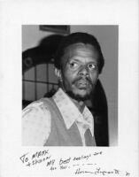 Autographed photo of Horace Tapscott, 1977 [descriptive]
