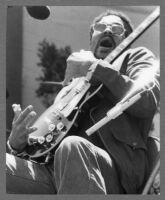 Louisiana Red holding electric guitar, 1978 [descriptive]