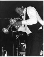 American trumpeter Freddie Hubbard performing [descriptive]