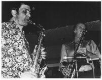 Art Pepper and Warne Marsh at Donte's, 1977 [descriptive]