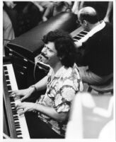 Chick Corea and Victor Feldman at the Blue Mitchell Memorial at Local 47 on Vine Street in Hollywood [descriptive]
