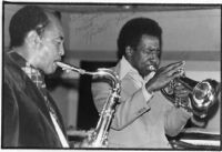 Autographed photo of Harold Land and Blue Mitchell, 1977 [descriptive]