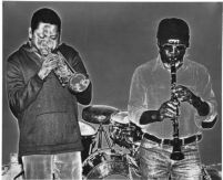 Bobby Bradford and John Carter playing in Los Angeles, 1976 [descriptive]