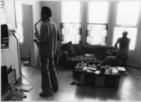 Lewis Jordan playing saxophone, 1979 [descriptive]