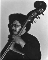 Rufus Reid playing double bass in Los Angeles, 1979 [descriptive]