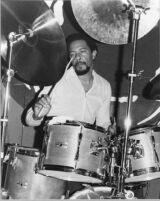 Carl Burnett on drums, 1979 [descriptive]