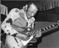 Pee Wee Crayton playing electric guitar, 1977 [descriptive]