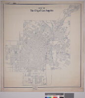 Map of the city of Los Angeles