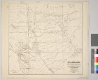Map of Central California from 37th to 40th deg. north lat. : showing various railroad routes projected or in progress together with a practicable route to enter the state with a Pacific railroad