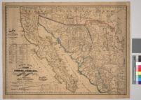 Nuevo mapa de los estados de Sonora, Chihuahua, Sinaloa, Durango y territoria de la Baja California