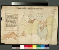 Anguillara. Pianta di tutto il territorio dell'Anguillara, con spiegazione, colorata, fatta da Battista Cocciante, Agrimensore.