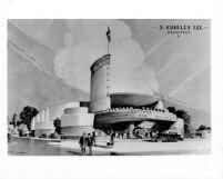 Crenshaw Theatre, photograph of rendering