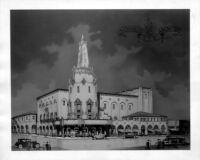 Fox Theatre, Bakersfield, perspective sketch