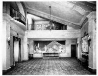 Fox Theatre, Bakersfield, foyer, tapestry