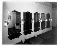 Fox Theatre, Bakersfield (?), mirrors in ladies lounge
